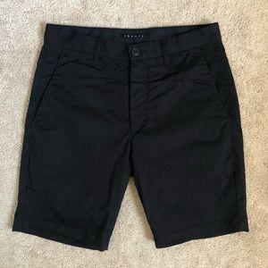 Theory Men's Zaine Cotton Slim Fit Black Shorts 28